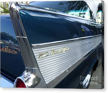 57 Chevy Bel Air Hardtop Back Fender View Canvas Print by Kerry Browne