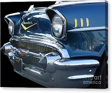 57 Chevy Bel Air Hardtop Front Canvas Print by Kerry Browne