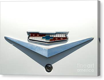 57 Chevy Emblem Canvas Print by Mark Dodd