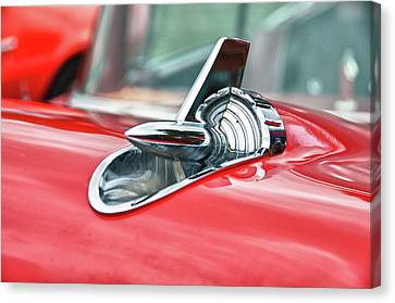 57 Chevy Hood Ornament 8509 Canvas Print by Guy Whiteley