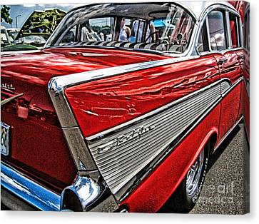 Canvas Print featuring the photograph 57 Chevy by Joe Finney
