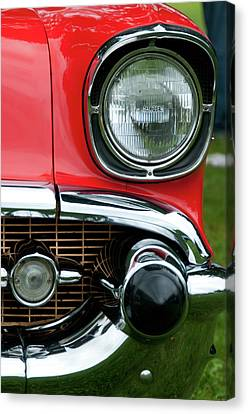57 Chevy Left Front 8560 Canvas Print by Guy Whiteley