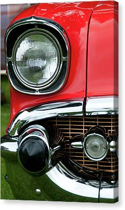 57 Chevy Right Front 8561 Canvas Print by Guy Whiteley