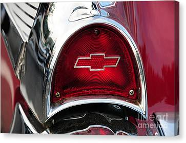 57 Chevy Tail Light Canvas Print by Paul Ward