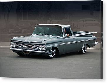 Canvas Print featuring the photograph 59 El Camino Rod by Bill Dutting