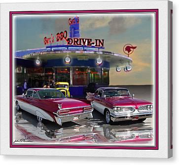 59 Pontiac Canvas Print by John Breen