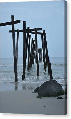 59th Street Pier Oc Nj Canvas Print by Bill Cannon