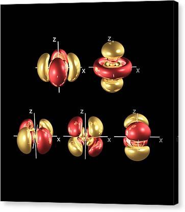 Electron Orbital Canvas Print - 5d Electron Orbitals by Dr Mark J. Winter