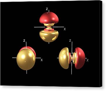 5p Electron Orbitals Canvas Print by Dr Mark J. Winter
