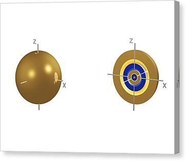 5s Electron Orbital Canvas Print by Dr Mark J. Winter