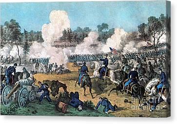 American Civil War, Battle Canvas Print by Photo Researchers