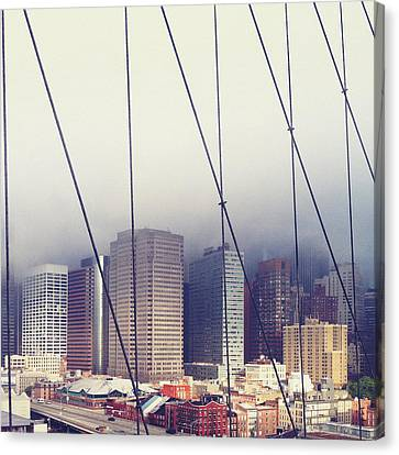 Brooklyn Bridge Canvas Print by Eli Maier