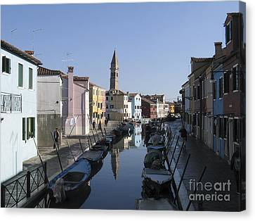 Burano.venice Canvas Print by Bernard Jaubert