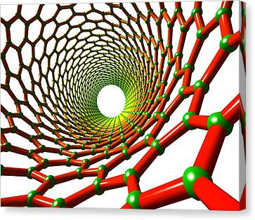 Carbon Nanotube Canvas Print by Pasieka