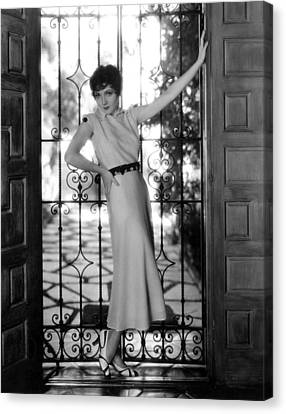 Claudette Colbert, Paramount Pictures Canvas Print by Everett