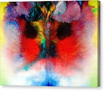 Colorful Water Color Painting Canvas Print by Sumit Mehndiratta
