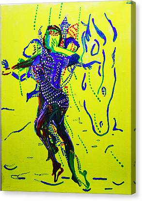 Dinka Dance Canvas Print - Dinka Dance - South Sudan by Gloria Ssali