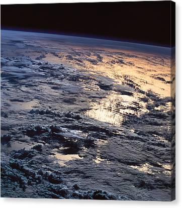 Earth Viewed From A Satellite Canvas Print by Stockbyte