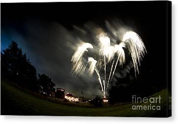 Fireworks Canvas Print by Angel Ciesniarska