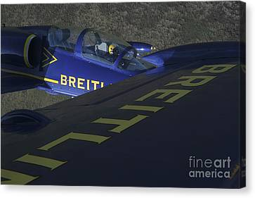 Flying With The Aero L-39 Albatros Canvas Print by Daniel Karlsson