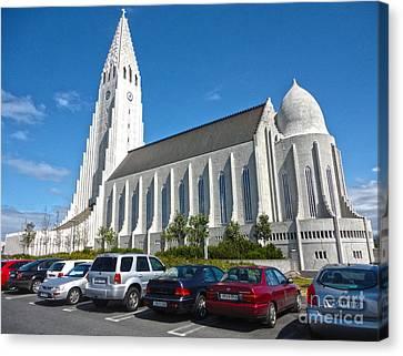 Hallgrimskirkja Church - Reykjavik Iceland  Canvas Print by Gregory Dyer