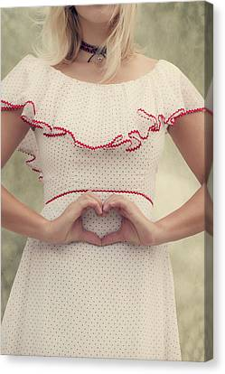 Heart Canvas Print by Joana Kruse