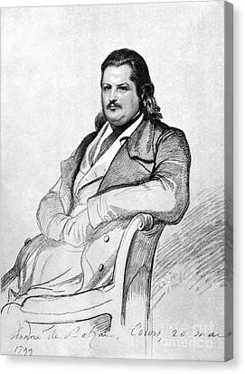 Balzac Canvas Print - Honore De Balzac (1799-1850) by Granger