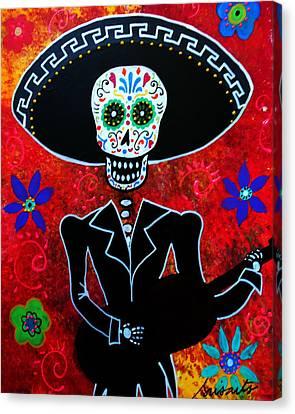 Day Of The Dead Canvas Print - Mariachi by Pristine Cartera Turkus