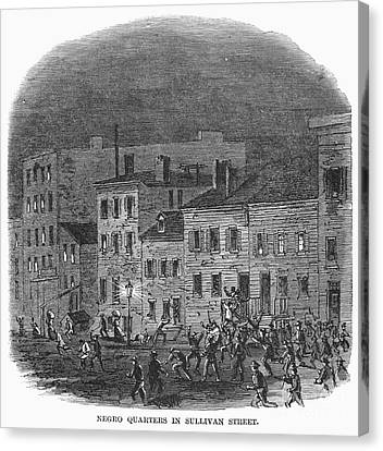 Sullivan Canvas Print - New York: Draft Riots by Granger