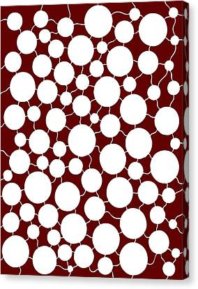 Red Abstract Canvas Print by Frank Tschakert