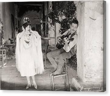 Silent Film Still: Music Canvas Print by Granger