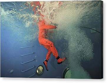 Submarine Rescue Unit Training Canvas Print by Alexis Rosenfeld
