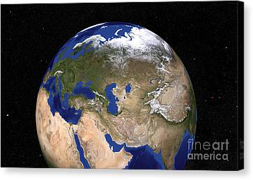 The Blue Marble Next Generation Earth Canvas Print by Stocktrek Images