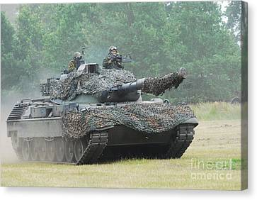 The Leopard 1a5 Main Battle Tank Canvas Print by Luc De Jaeger