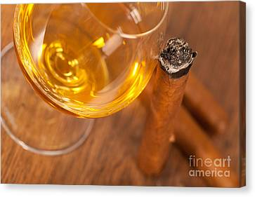 Whisky And Cigars Canvas Print by Sabino Parente