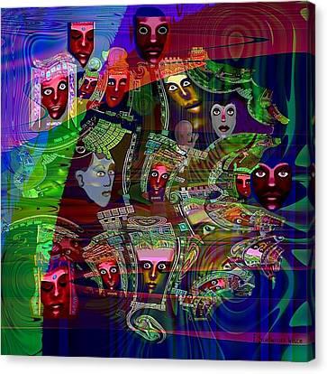 636 - People Masks Canvas Print