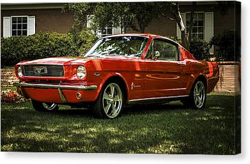 Pony Canvas Print - '66 Mustang by Douglas Pittman