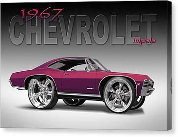 67 Chevrolet Impala Canvas Print