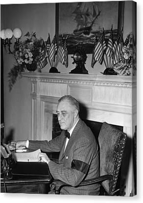 President Franklin D. Roosevelt Canvas Print