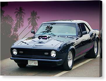 Canvas Print featuring the photograph 68 Pro Street Camaro by Bill Dutting