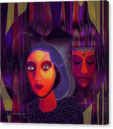 696 - Couple Canvas Print