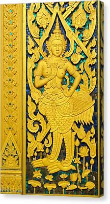 Antique Thai Temple Mural Patterns Canvas Print by Kanoksak Detboon
