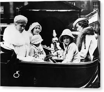 British Royal Family. From Left British Canvas Print by Everett