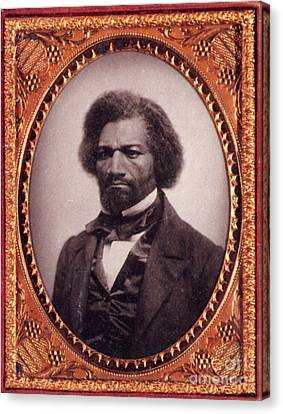 Frederick Douglass African-american Canvas Print by Photo Researchers