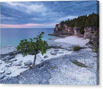 Georgian Bay Cliffs At Sunset Canvas Print by Oleksiy Maksymenko