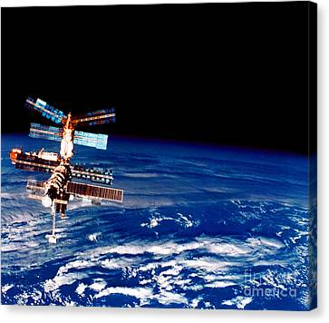 Mir Space Station Canvas Print by Nasa
