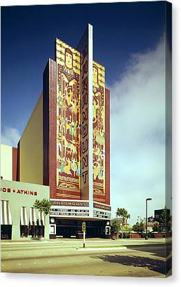 Movie Theaters, The Paramount Theatre Canvas Print by Everett