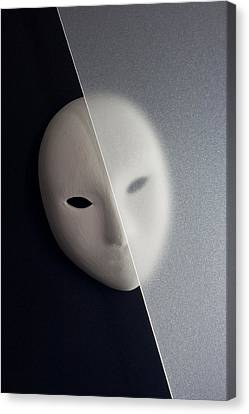 Plaster Mask In Studio Canvas Print by Kantapong Phatichowwat