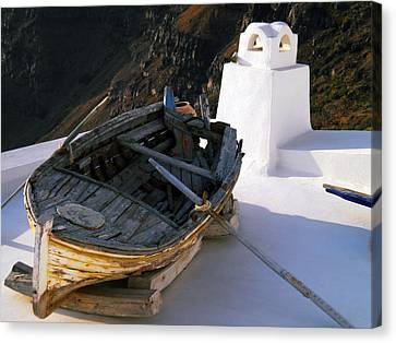 Canvas Print featuring the photograph Santorini Greece by Colette V Hera  Guggenheim