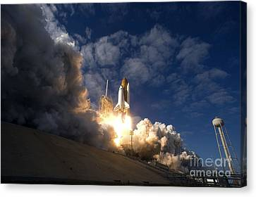 Space Shuttle Atlantis Lifts Canvas Print by Stocktrek Images